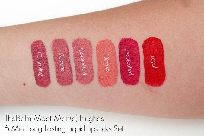 the balm meet matte hughes 6 mini long lasting liquid lipstick,the balm meet matte hughes ราคา