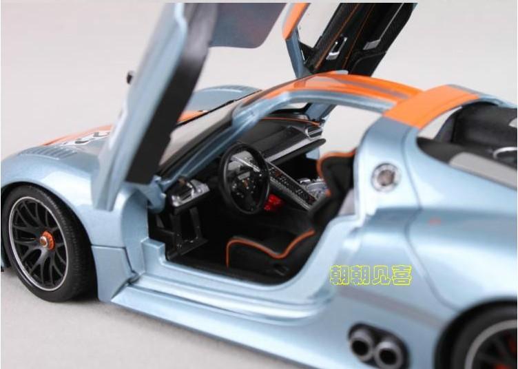 โมเดลรถเหล็ก โมเดลรถยนต์ Porsche 918 RSR 8