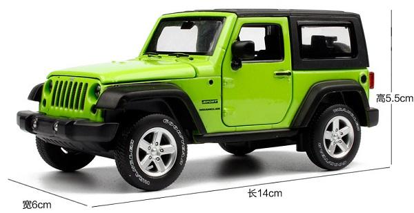 โมเดลรถเหล็ก โมเดลรถยนต์ Jeep Wrangler 1