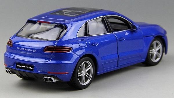 โมเดลรถประกอบ รถเหล็กประกอบ โมเดลรถเหล็กประกอบ, โมเดลรถยนต์ประกอบ Porsche Macan blue 3