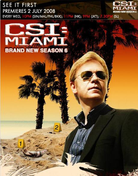 CSI : Miami Season 6 ไขคดีปริศนา ไมอามี่ ปี 6 [พากย์ไทย]