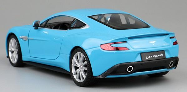 โมเดลรถเหล็ก โมเดลรถยนต์ aston martin vanquish blue 2