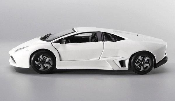 โมเดลรถประกอบ รถเหล็กประกอบ โมเดลรถเหล็กประกอบ, โมเดลรถยนต์ประกอบ Lamborghini Reventon ขาว 4