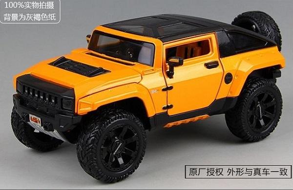 โมเดลรถยนต์ โมเดลรถเหล็ก NEW Modified Hummer HX 1