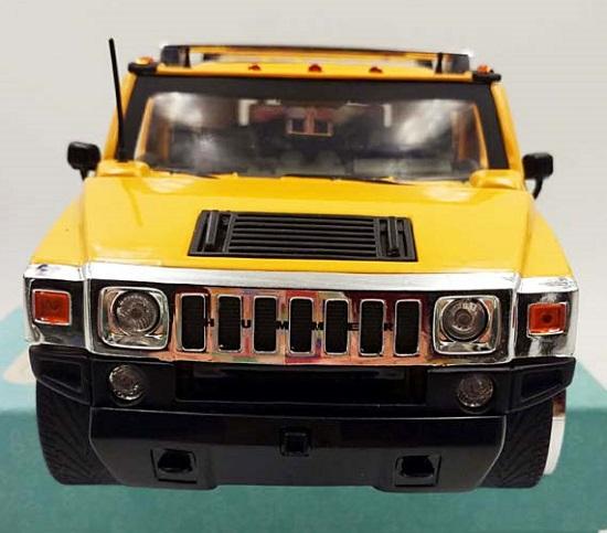 โมเดลรถเหล็ก โมเดลรถยนต์ Hummer H2 yelllow 5