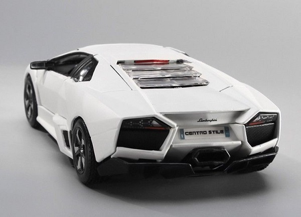 โมเดลรถประกอบ รถเหล็กประกอบ โมเดลรถเหล็กประกอบ, โมเดลรถยนต์ประกอบ Lamborghini Reventon ขาว 3
