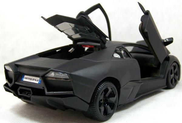 โมเดลรถ โมเดลรถเหล็ก โมเดลรถยนต์ Lamborghini Reventon matte black 5