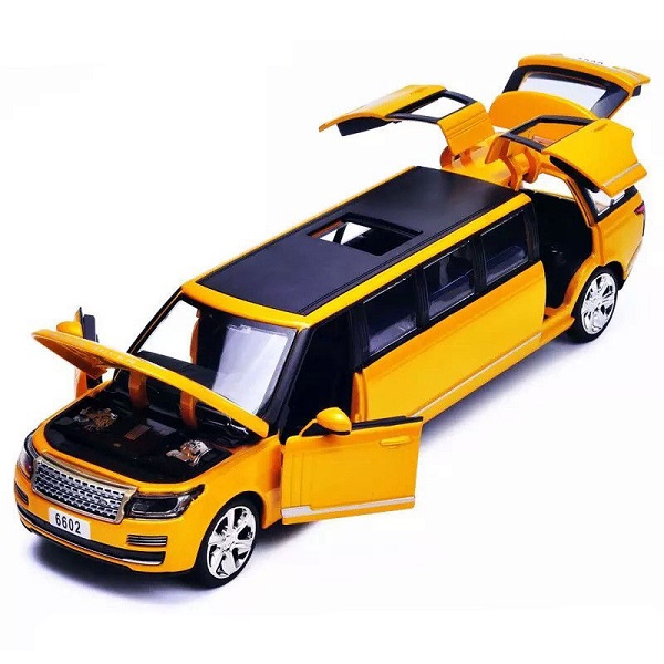 โมเดลรถเหล็ก โมเดลรถยนต์ Land Rover รถยาว 3