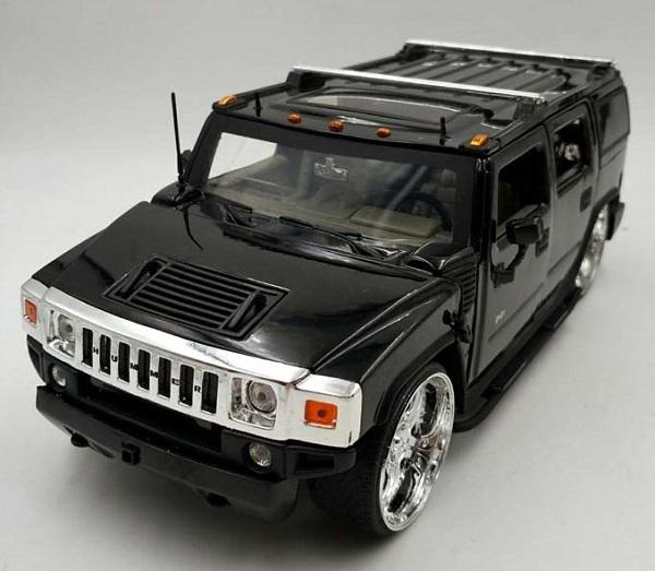 โมเดลรถเหล็ก โมเดลรถยนต์ Hummer H2 black 1