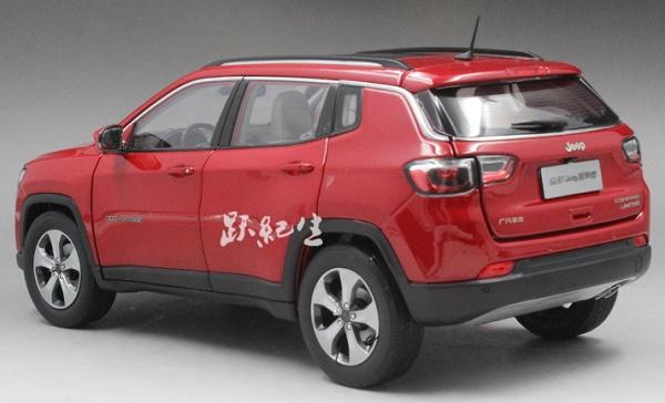 โมเดลรถ โมเดลรถเหล็ก โมเดลรถยนต์ Jeep Compass red 2