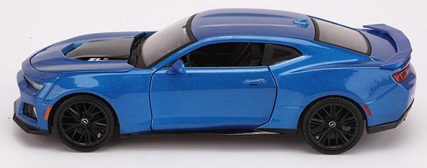 โมเดลรถ รถเหล็ก โมเดลรถเหล็ก โมเดลรถยนต์ 2017 Chevrolet ZL1 blue 5