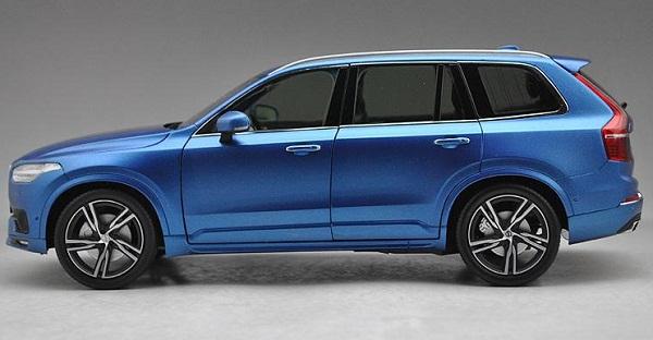 โมเดลรถ โมเดลรถเหล็ก โมเดลรถยนต์ Volvo XC90 blue 2015 3