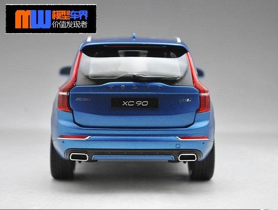โมเดลรถ โมเดลรถเหล็ก โมเดลรถยนต์ Volvo XC90 blue 2015 5