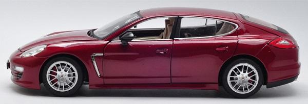 โมเดลรถ โมเดลรถเหล็ก โมเดลรถยนต์ Porsche Panamera red 3