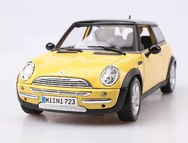 โมเดลรถ โมเดลรถเหล็ก โมเดลรถยนต์ BMW Mini Sun Roof yellow 2