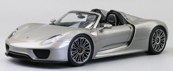 โมเดลรถ โมเดลรถเหล็ก โมเดลรถยนต์ Porsche 918 silver 1