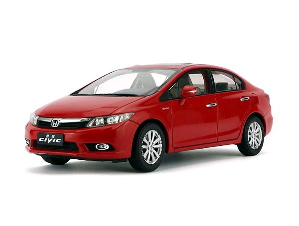 โมเดลรถ โมเดลรถเหล็ก โมเดลรถยนต์ Honda Civic 2009 9 gen red 1