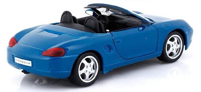 โมเดลรถ โมเดลรถยนต์ โมเดลรถเหล็ก porsche boxster blue 2