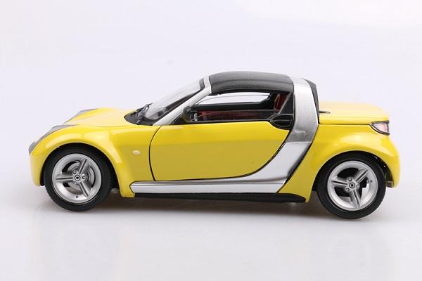โมเดลรถ โมเดลรถเหล็ก โมเดลรถยนต์ Benz Smart yellow 6