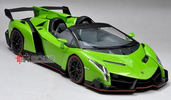 โมเดลรถ โมเดลรถเหล็ก โมเดลรถยนต์ Lamborghini Veneo green 1