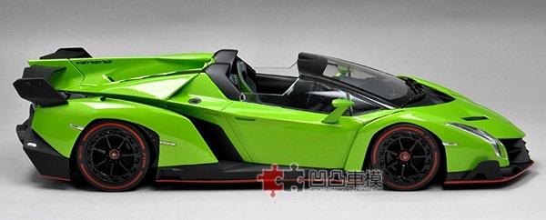 โมเดลรถ โมเดลรถเหล็ก โมเดลรถยนต์ Lamborghini Veneo green 5