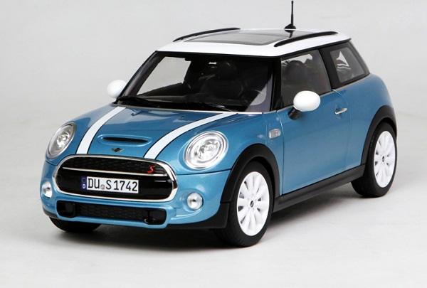โมเดลรถ โมเดลรถเหล็ก โมเดลรถยนต์ Mini Cooper S sky blue 1