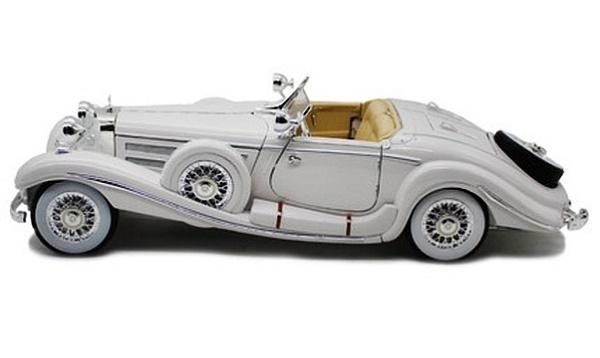 โมเดลรถ โมเดลรถเหล็ก โมเดลรถยนต์ Benz 500K white 3