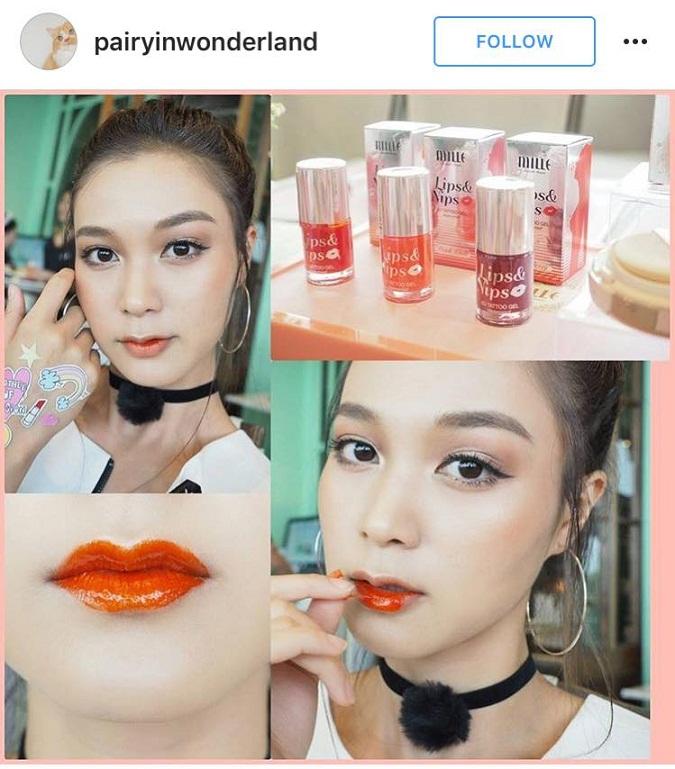 Mille Beaute, Mille Lips & Nips 6D Tattoo Gel Set, Mille Lips ราคา , MilleLips ราคาส่ง, Mille Lips รีวิว,มิลเล่ เจลสักปาก,