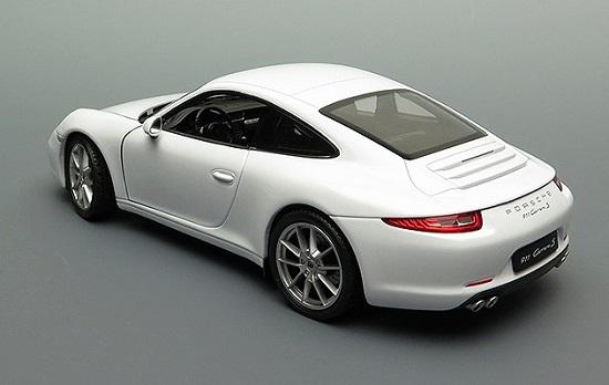 โมเดลรถ โมเดลรถยนต์ โมเดลรถเหล็ก porsche 911 carrera s white 2