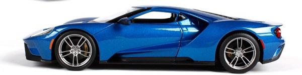 โมเดลรถ โมเดลรถเหล็ก โมเดลรถยนต์ Ford GT 2017 blue 5