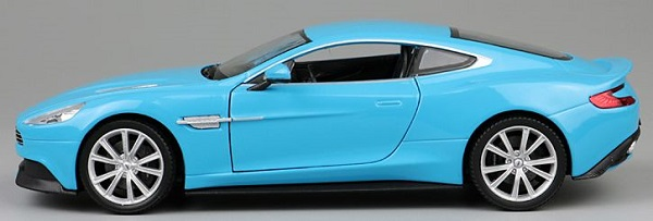 โมเดลรถเหล็ก โมเดลรถยนต์ aston martin vanquish blue 3