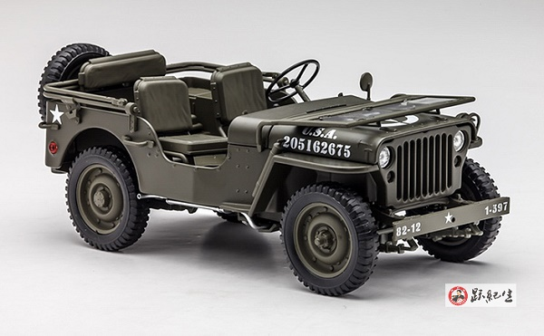 โมเดลรถ โมเดลรถเหล็ก โมเดลรถยนต์ Jeep WW2 US Army1