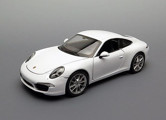 โมเดลรถ โมเดลรถยนต์ โมเดลรถเหล็ก porsche 911 carrera s white 1