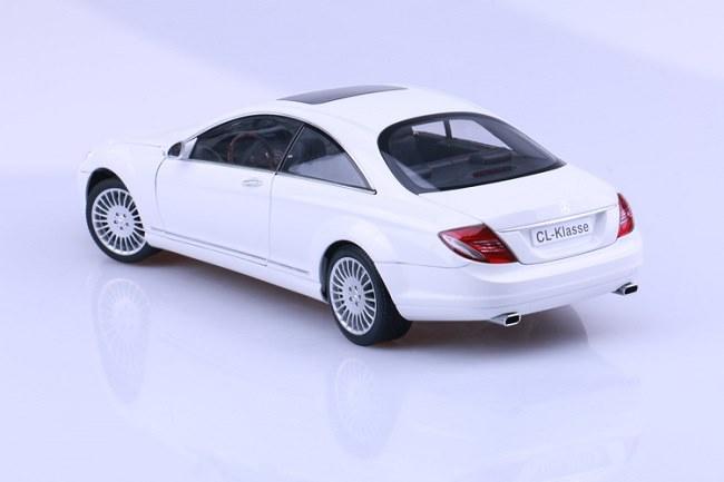 โมเดลรถ โมเดลรถเหล็ก โมเดลรถยนต์ Benz CL Class White 4